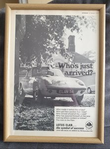 Picture of 1970 Lotus Elan S4 Framed Advert Original