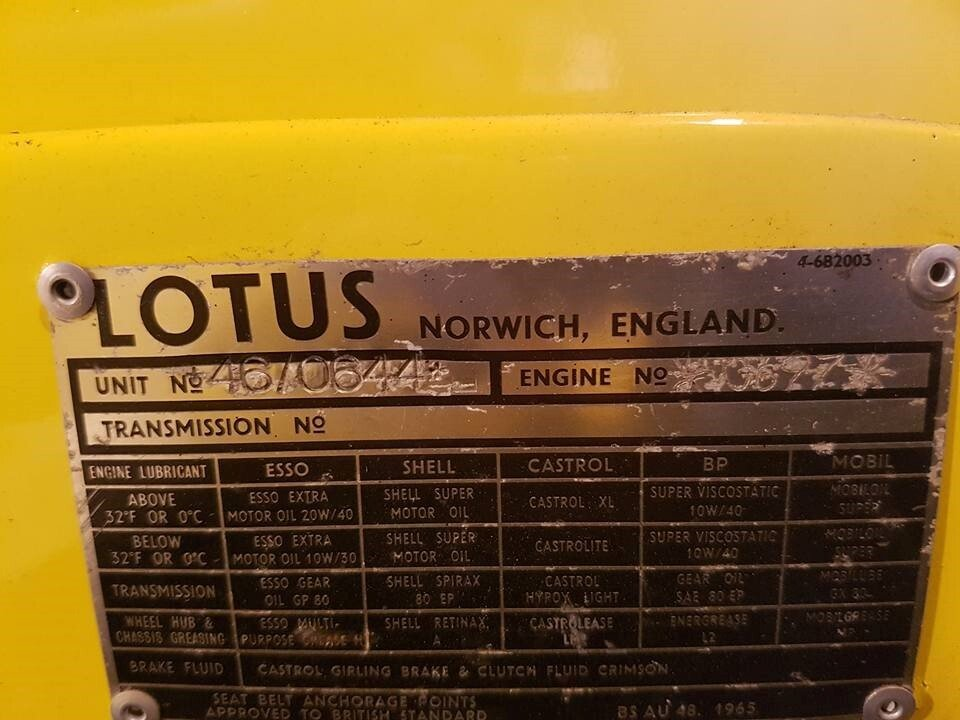 LOTUS EUROPA S1B (46Mk1) 1968  -  VERY  RARE! For Sale (picture 4 of 6)