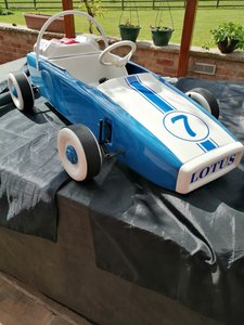 Vintage Lotus metal pedal car circa early 1960s
