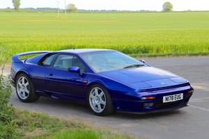 Lotus Esprit Turbo S4S, 1995.  Azure Blue metallic.