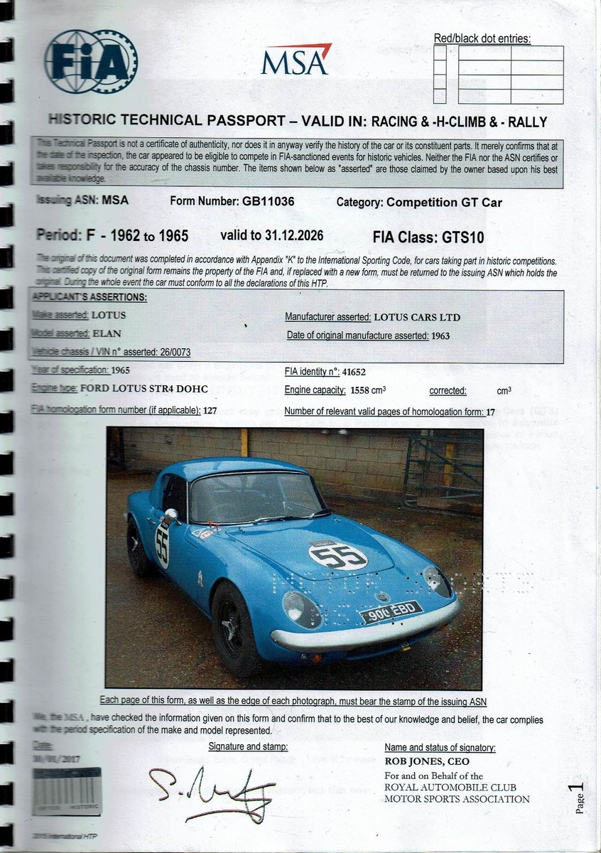 1963 Lotus Elan S1 GTS For Sale (picture 2 of 6)