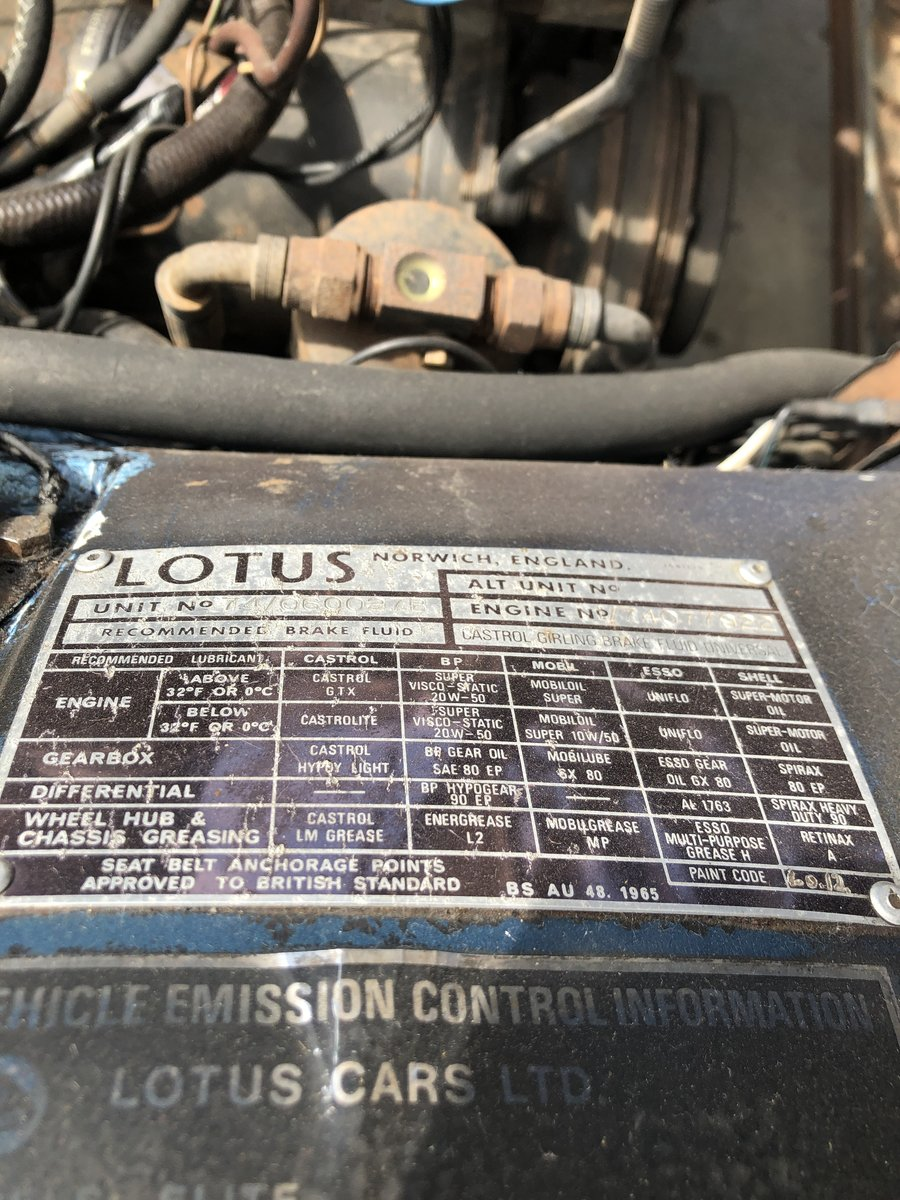 1974 Lotus Elite SI LHD, 1 of 2398! For Sale (picture 5 of 6)