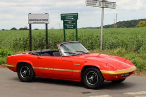 Lotus Elan Sprint DHC, 1973.  Carnival Red.
