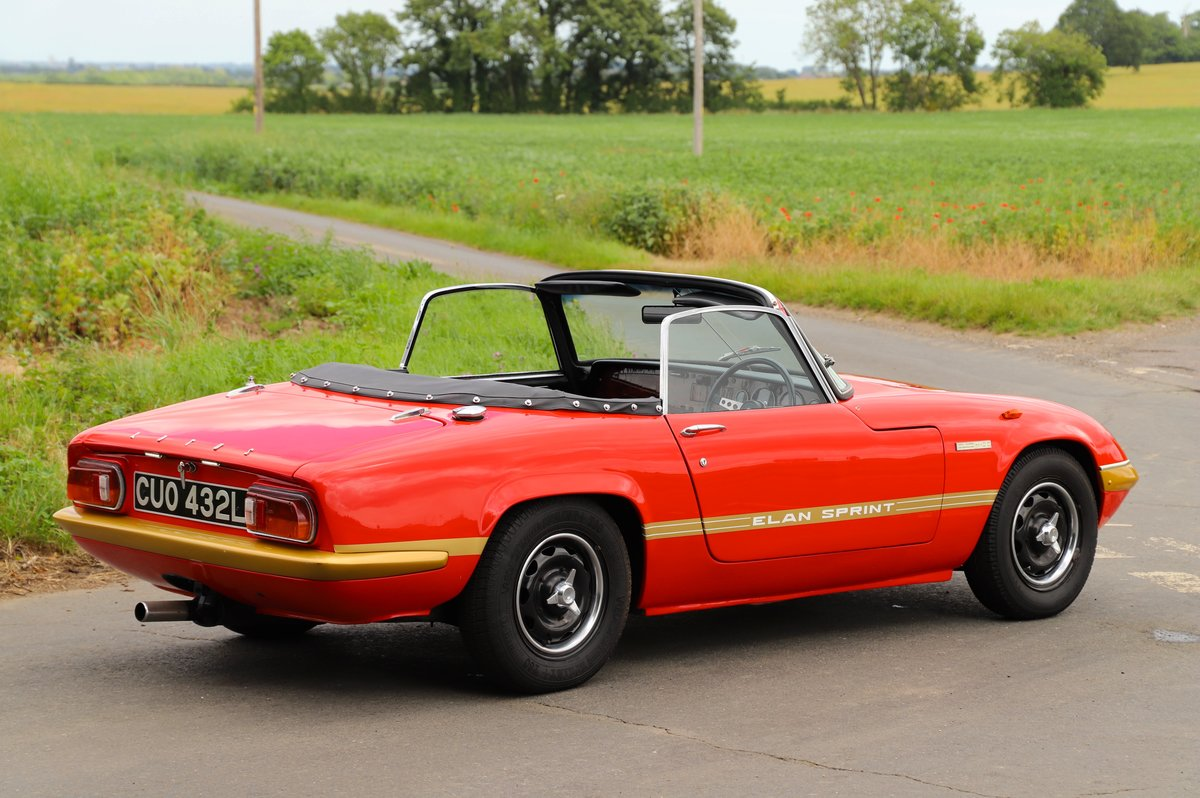 Lotus Elan Sprint DHC, 1973. Carnival Red. For Sale (picture 3 of 6)