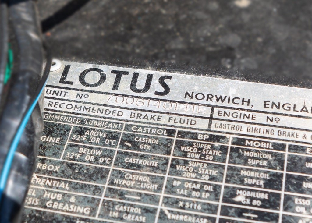 1970 Lotus Elan S4Sprint Specification SOLD by Auction (picture 6 of 6)
