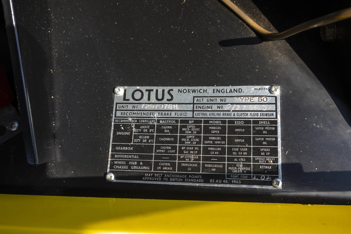 1972 Lotus Elan Plus2 S130 RESTORED For Sale (picture 5 of 6)