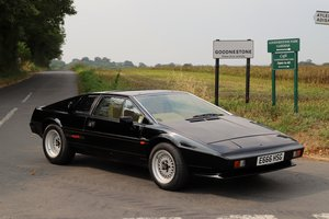 Lotus Esprit HC, 1987.  One of only two HC Esprits in black