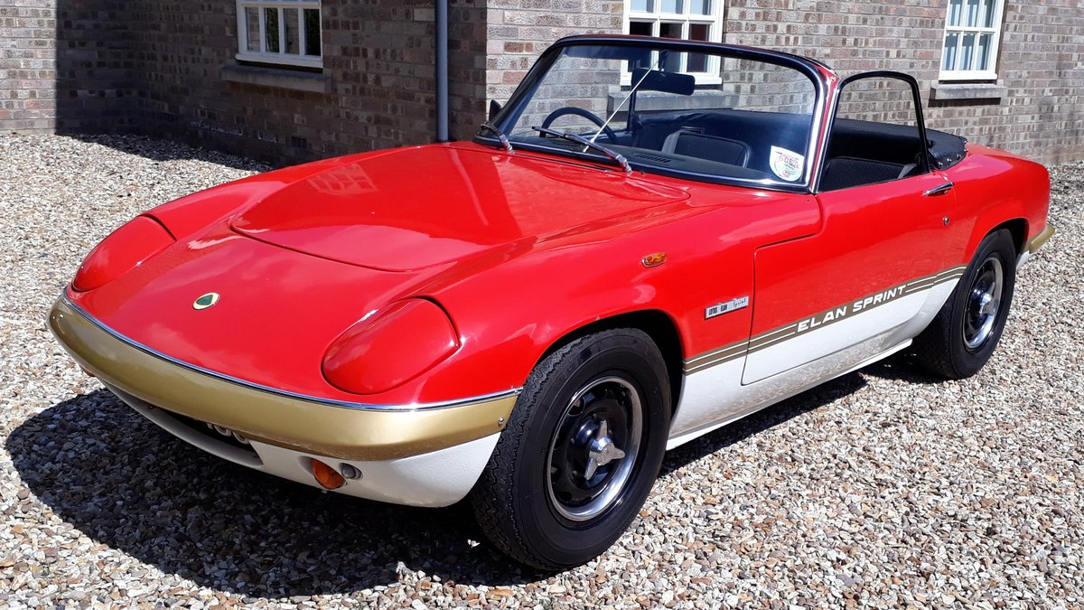 Lotus Elan Sprint Drop Head Coupe 1972 Owned 1981 £35k Spent For Sale (picture 1 of 6)