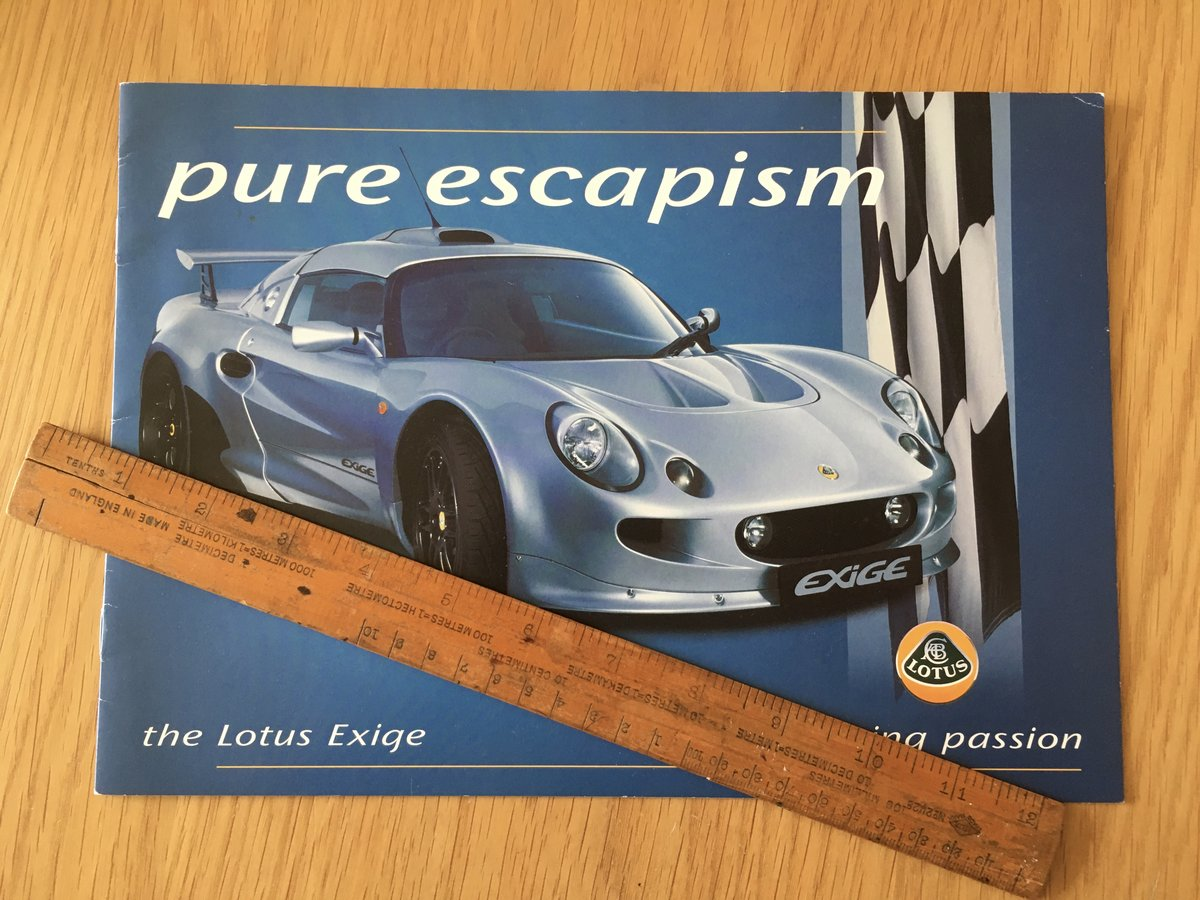 2000 Lotus Exige brochure For Sale (picture 1 of 2)