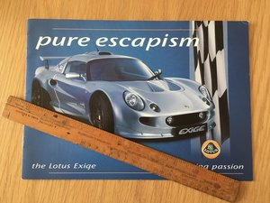 2000 Lotus Exige brochure For Sale