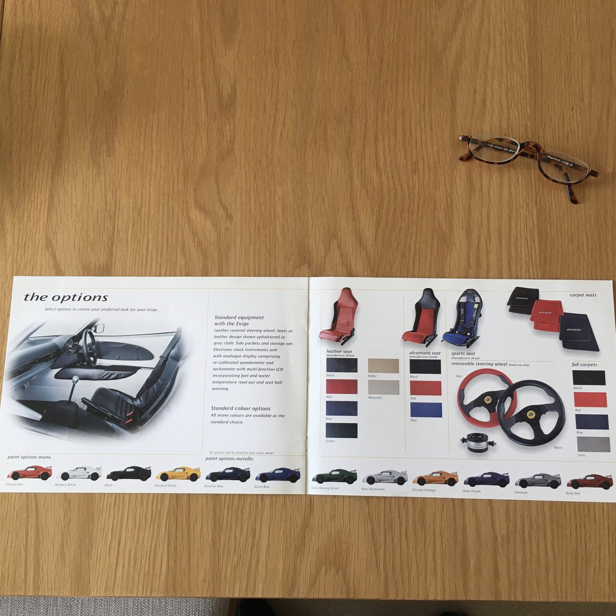 2000 Lotus Exige brochure For Sale (picture 2 of 2)