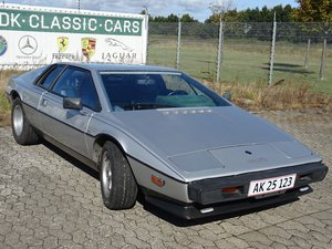 Lotus Esprit S2 in silver metallic and original green velour
