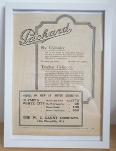 Original 1922 Packard Framed Advert