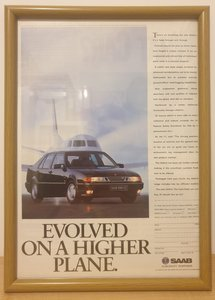 Picture of 1979 Original 1992 Saab 9000CS Framed Advert