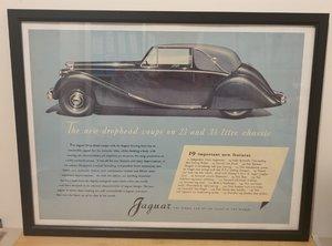 Original 1948 Jaguar MK5 Framed Advert
