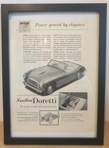 Picture of 1976 Original 1954 Swallow Doretti Framed Advert