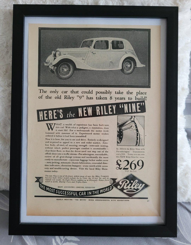 Picture of 1979 Original 1935 Riley Nine Framed Advert