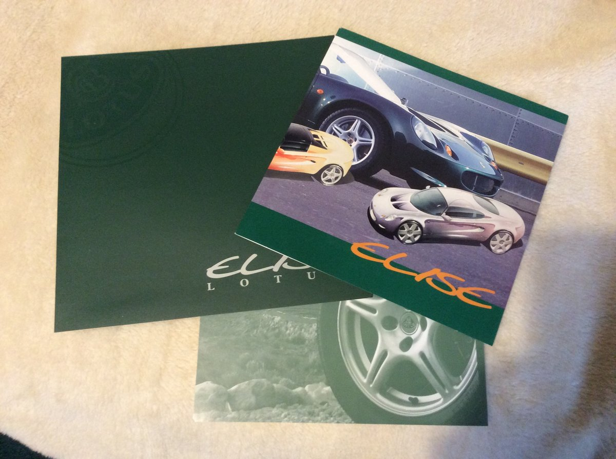 Early Sales brochures for Lotus Elise For Sale (picture 1 of 2)