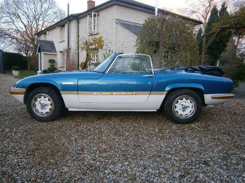LOTUS ELAN SPRINT DHC TYPE 45  LAGOON **SOLD*SOLD** 1972 For Sale (picture 1 of 6)