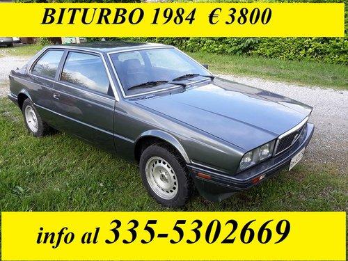 1984 MASERATI BITURBO COUPE' NO RUST For Sale (picture 1 of 5)