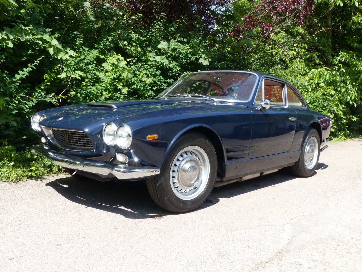 1963 Fantastic Maserati Sebring Mk1, dark-blue, red leather For Sale (picture 1 of 6)