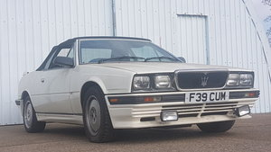 1989 Maserati Spider E Rare White 29,000 Miles For Sale