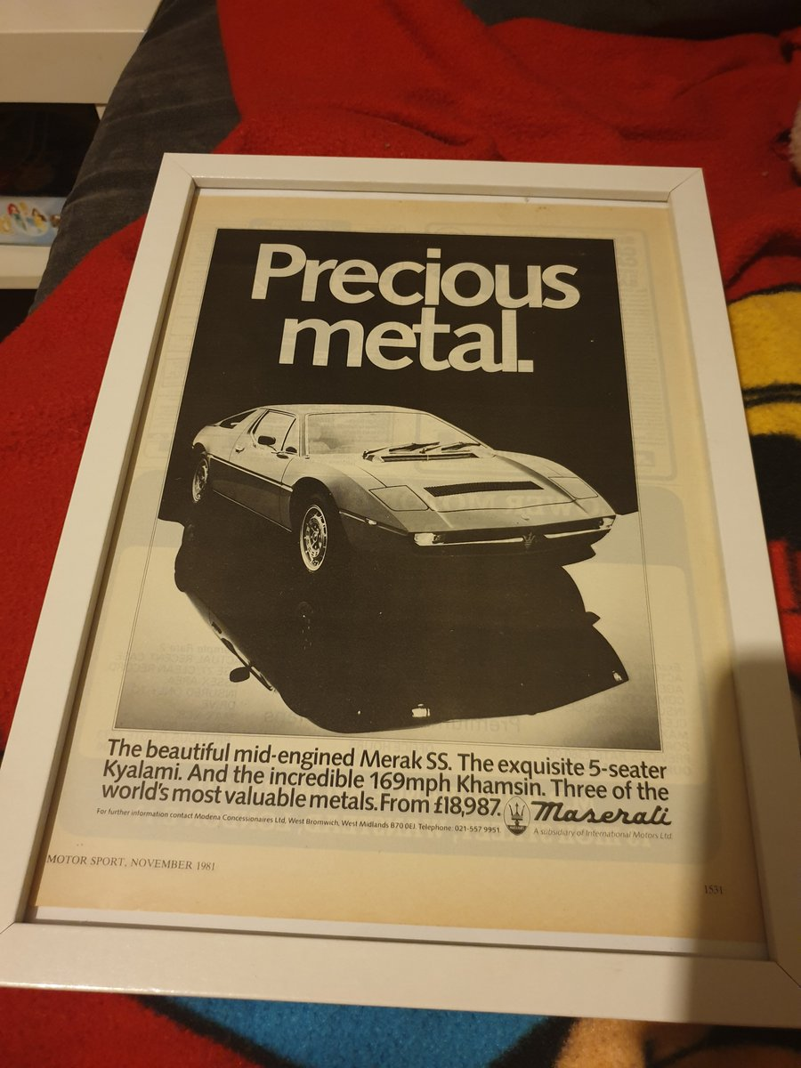 1981 Original Merak SS advert For Sale (picture 1 of 2)