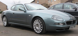EXTRA LOT:Lot 23 A 2002 Maserati 4200 Cambrio Corsa-11/09/19 For Sale by Auction