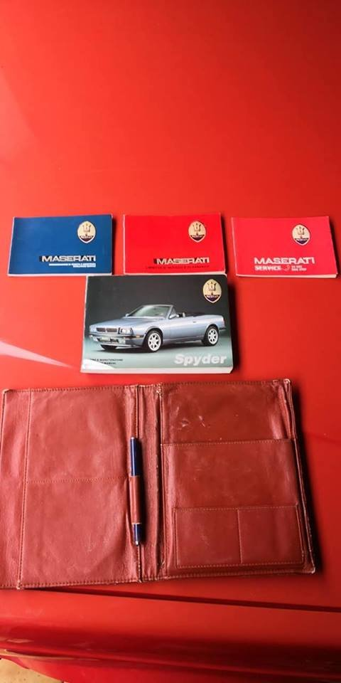 maserati biturbo spyder 24v, 1 of 200 one owner service book For Sale (picture 6 of 6)