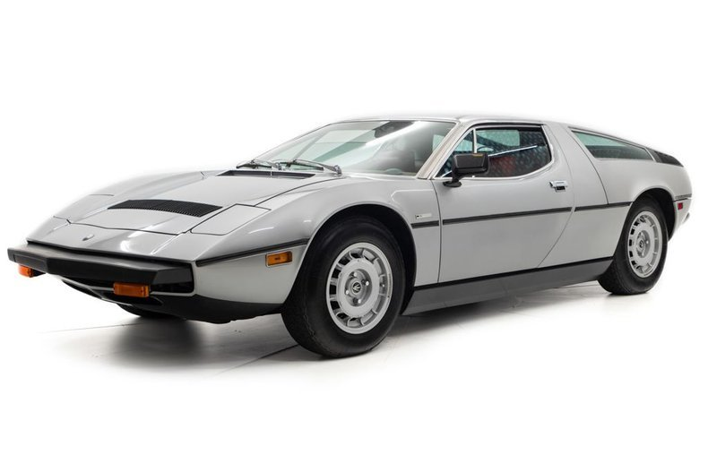 1977 Maserati Bora Coupe 4.9 only 11k miles Silver $184.5k For Sale (picture 1 of 6)
