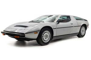 1977 Maserati Bora Coupe 4.9 only 11k miles Silver $184.5k For Sale