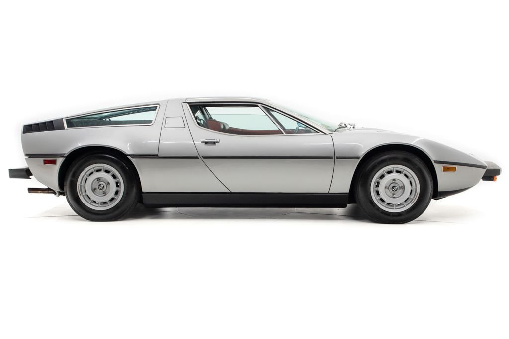 1977 Maserati Bora Coupe 4.9 only 11k miles Silver $184.5k For Sale (picture 2 of 6)