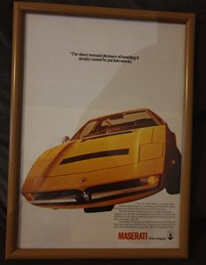 1975 Maserati Merak Advert Original