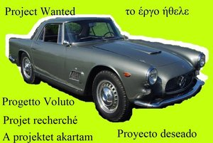 1960 Wanted Maserati 3500GT Project Wanted
