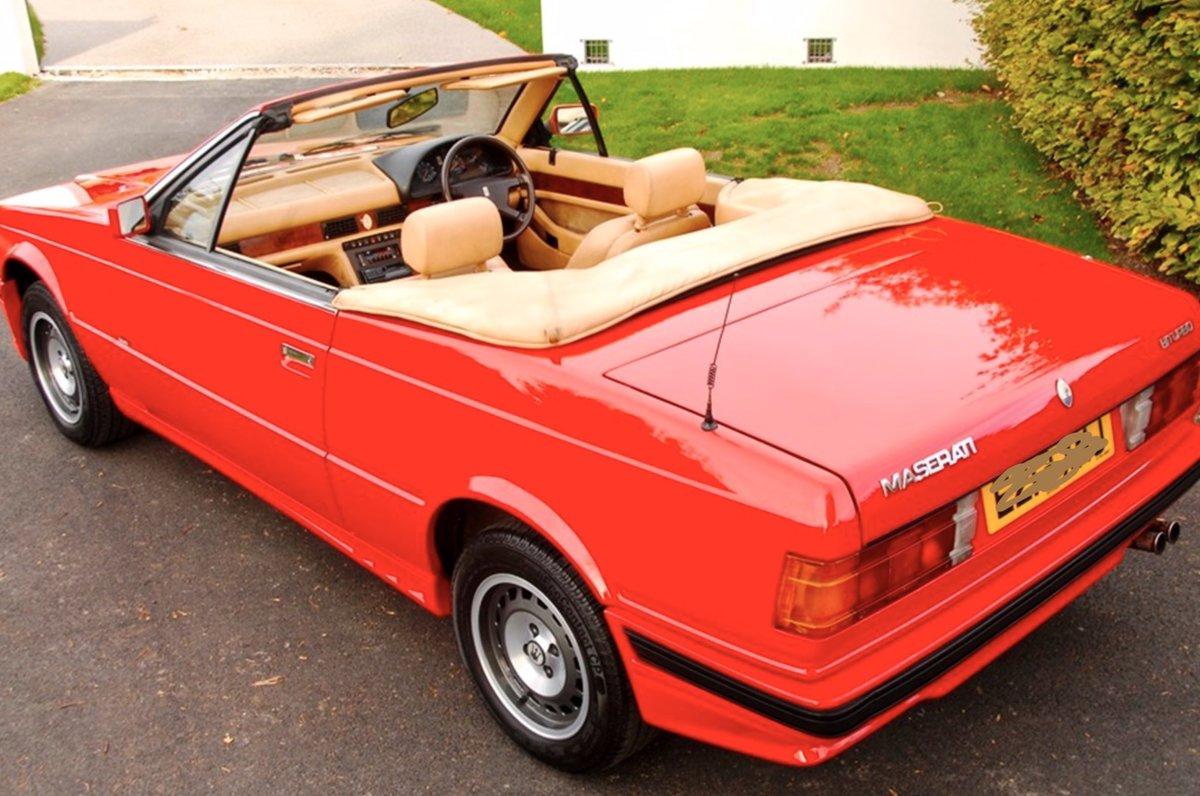1987 Maserati Biturbo Mint - full documented history For ...