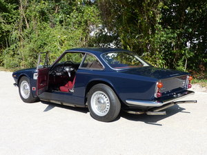 Fantastic Maserati Sebring Mk1, dark-blue, red leather
