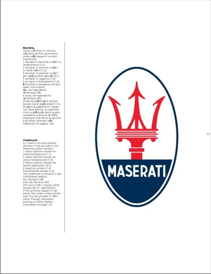 Maserati International Coordinated Image Manual For Sale (picture 3 of 12)