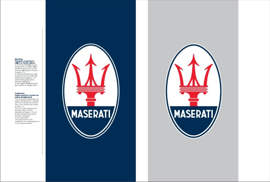 Maserati International Coordinated Image Manual For Sale (picture 5 of 12)
