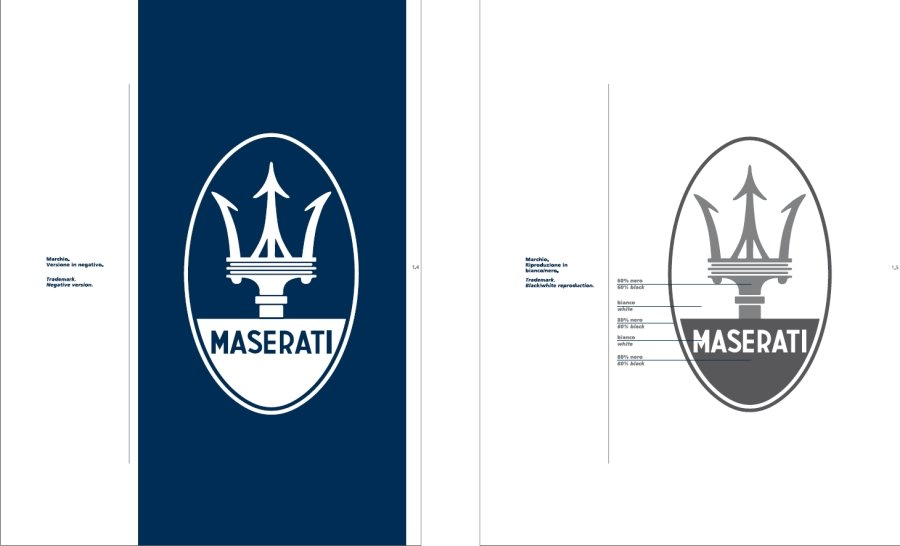 Maserati International Coordinated Image Manual For Sale (picture 6 of 12)