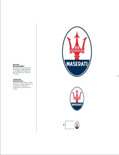 Maserati International Coordinated Image Manual For Sale (picture 7 of 12)