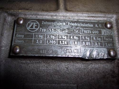 1967 Maserati 5-speed gearbox, ZF S5-20, good condition For Sale (picture 3 of 6)