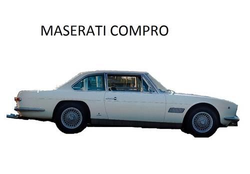 1969 Vuole Vendere la propria Maserati Mexico? Compro.... anche p SOLD (picture 1 of 1)