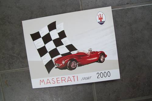 1955 Maserati Vintage sports car sales brochure For Sale (picture 1 of 6)