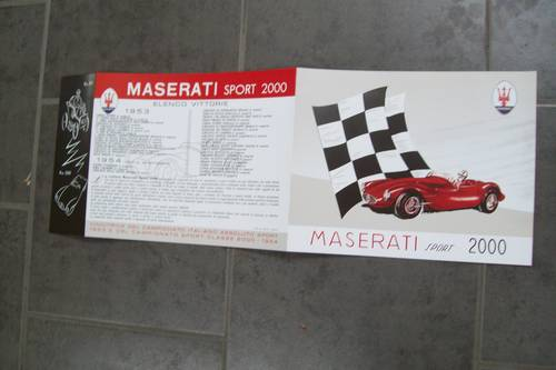 1955 Maserati Vintage sports car sales brochure For Sale (picture 2 of 5)