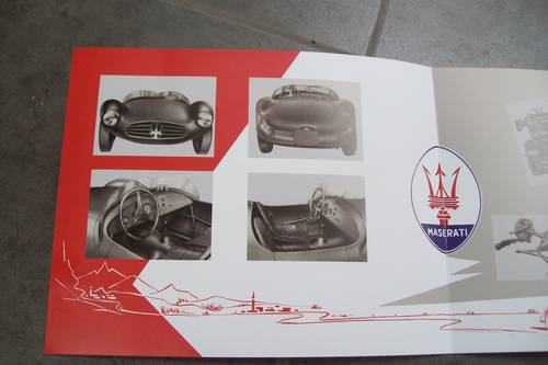 1955 Maserati Vintage sports car sales brochure For Sale (picture 3 of 5)