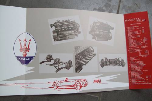 1955 Maserati Vintage sports car sales brochure For Sale (picture 4 of 5)