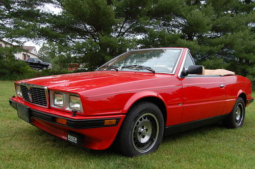1987 Maserati BiTurbo Spyder Red/Tan 5-speed nice For Sale (picture 1 of 6)