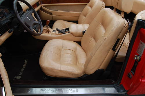 1987 Maserati BiTurbo Spyder Red/Tan 5-speed nice For Sale (picture 4 of 6)
