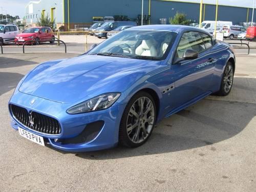 2013 (63) Maserati Granturismo Sport 4.7 V8 2dr Coupe Auto SOLD (picture 1 of 6)