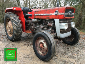1974 MF135 ALL WORKING 1975 VINTAGE TRACTOR SEE VIDEO CAN DELIVER For Sale